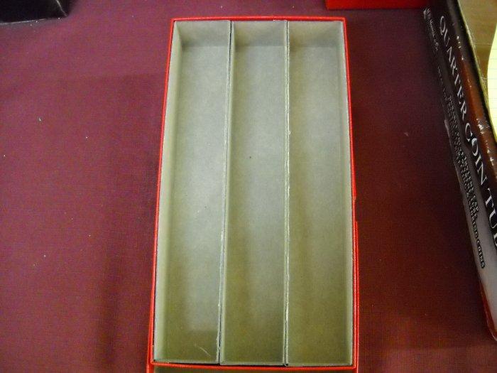 1 1/2 x 1 1/2 Triple Row Coin Holder Box.
