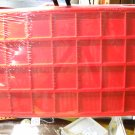 2x2 Coin tray holder.  Red in color holds 28 coins