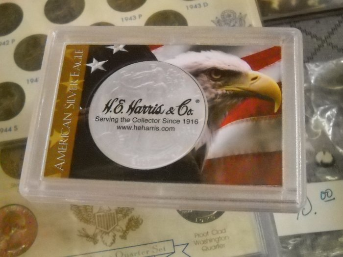 "Coin Holder. ""American Eagle"", Harris mfg."