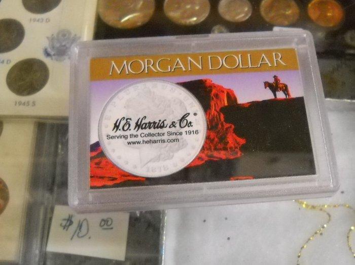 "Coin Holder. ""Morgan or Peace Dollar"", Harris mfg."