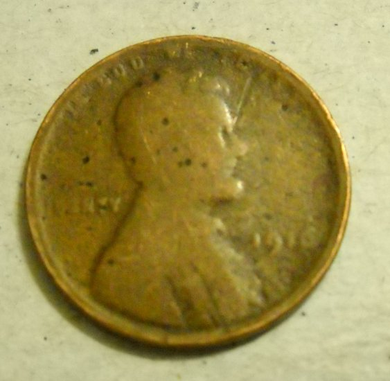 1916 Lincoln Wheat Cents.