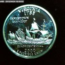 "2000-S Washington Qaurter. SILVER PROOF. ""Virginia"""