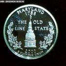 """2000-S Washington Qaurter. SILVER PROOF. """"Maryland"""""""