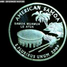 "2009-S Washington Quarter. SILVER PROOF. ""America Samoa"""