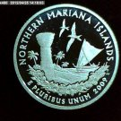 "2009-S Washington Quarter. SILVER PROOF. ""Northern Marianas Island"""