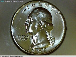 1957-D Washington Quarter. Brilliant Mint Luster. Choice UN-Circulated Raw Coin.