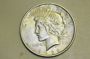 1922 Peace Silver Dollar. Nice Circulated Coin. Great Time For Collecting.