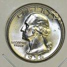 1956-D Washington Quarter. Choice Mint Luster. Brilliant UN-Circulated