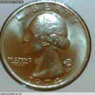 "1974 Washington Quarter, 3 Coin Collection. ""P"", ""D"" and ""S"" Mint Mark Coins.UNC"