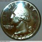 "1972 Washington Quarter, 3 Coin Collection. ""P"", ""D"" and ""S"" Mint Mark Coins.UNC"