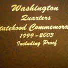 """1999 to 2008 Washington State Quarter Collection, """"P"""", """"D"""", """"S"""". """"S"""". In Dansco."""