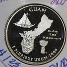 "2009 Washington Quarter, U.S. Territories, GUAM. 3 Coin Set. ""P"", ""D"" and ""S""."