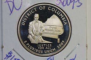 "2009 Washington Quarter, Washington D.C. 3 Coin Set.,  ""P"", ""D"" and ""S""."