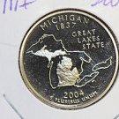 2004 Washington State Quarter, 3 Coin Set, P/D/S. Michigan,  B.U./Proof.
