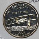 2001 Washington State Quarter, 3 Coin Set, P/D/S. North Carolina.,  B.U./Proof.