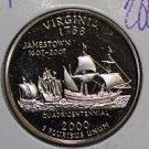 2000 Washington State Quarter, 3 Coin Set, P/D/S. Virginia.  B.U./Proof.