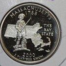 2000 Washington State Quarter, 3 Coin Set, P/D/S. Massachusetts. B.U./Proof.