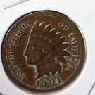 1901 Indian Head Penny, Well Circulated.  #4775
