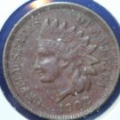 1908 Indian Head Penny - Very Fine Plus Coin  #4797