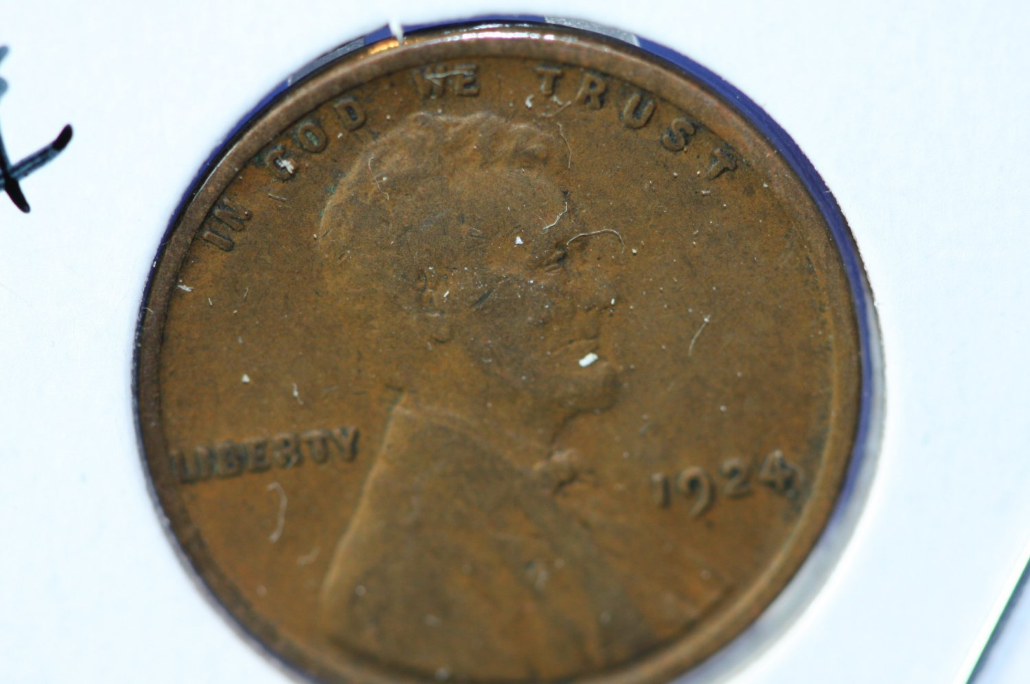 1924 Lincoln Wheat Cents.  Fine Circulated Coin.  #4913