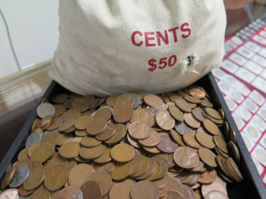 Lincoln Wheat Pennies. 5,000 Count Bags.