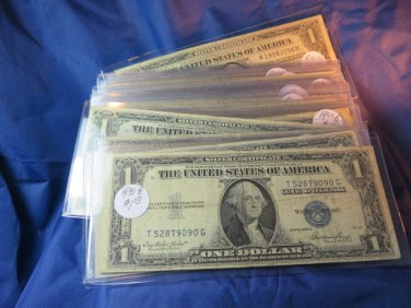 1935  or   1957  U.S. Silver Certificate, Circulated Condition. Various Serial Numbrs.
