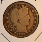 1897 Barber Quarter.  Very Good Circualted Condition.  BX-5326