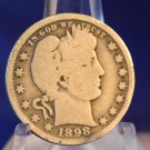 1898 Barber Quarter.  Good Circualted Condition.  BX-5332