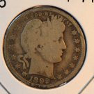 1899 Barber Quarter.  Good Plus Circualted Condition.  BX-5368