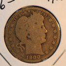 1900 Barber Quarter.  Average Circulated Condition.  BX-5394