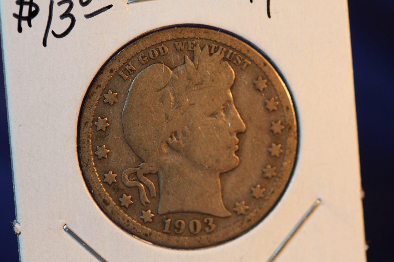 1903 Barber Quarter.  Good Circualted Coin.  BX-5430