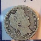 1908-D Barber Quarter.  Good Circulated Coin.  BX-5494