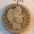 1911 Barber Quarter.  Good Circulated Coin.  BX-5550