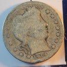 1914 Barber Quarter.  Average Circulated Coins.  Box#5578