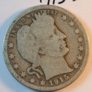 1915-D Barber Quarter. About Good Circualted Coins.  BX-5634