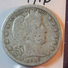 1916-D Barber Silver Quarter.  Average Circualted Coins.  BX #5665