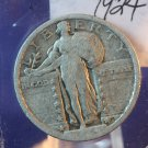 1924 Standing Liberty Quarter. Nice Very Fine Coin.  BX-5763