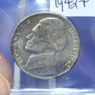 "1942-P Jefferson Silver Nickel.  ""War Era"".  Brilliant UN-Circulated Coin. CS#7480"