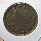 1908 Liberty Nickel. Choice Extra Fine Circulted Coin. CS#7711