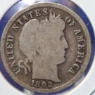 1892 10C Barber Dime. 1st Year Of Issue.  Well Circulated Coin. CS#8392