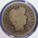 1893-S Barber Dime. Well Circulated, Early Collectible Coin. CS#8404