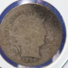 1896-S Barber Dime. Lower Minted Year/Mint Mark. Getting Hard To Find. CS#8426
