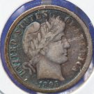 1898-O Barber Dime. Choice Problem Free Circualted Coin. LIBERTY Slightly Worn. CS#8442