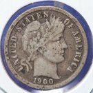 1900 Barber Dime Nice Circulated Coin.  GREAT DEALS. CS#8450