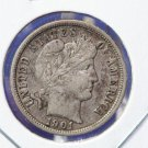 1901-O Barber Dime. Full LIBERTY On Obverse - Full Rims on Reverse. CS#8464