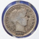 """1901-S Barber Dime. """"LOW MINTAGE"""" - """"Semi Key"""" Date. Nice Circulated Coin. CS#8466"""