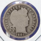 """1901-S Barber Dime. """"LOW MINTAGE"""" - """"Semi Key"""" Date. Good Circulated Coin. CS#8468"""