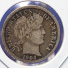1902 Barber Dime. Great Looking Coin. Very Fine Circulated Condition. CS#8472