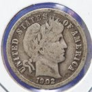 1902-O Barber Silver Dime. Very Good Circulated Coin. CS#8474