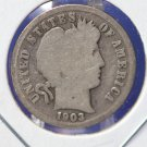 1903-S Barber Dime. Well Circualted 'Low Mintage' Liberty Head Coin. CS#8486